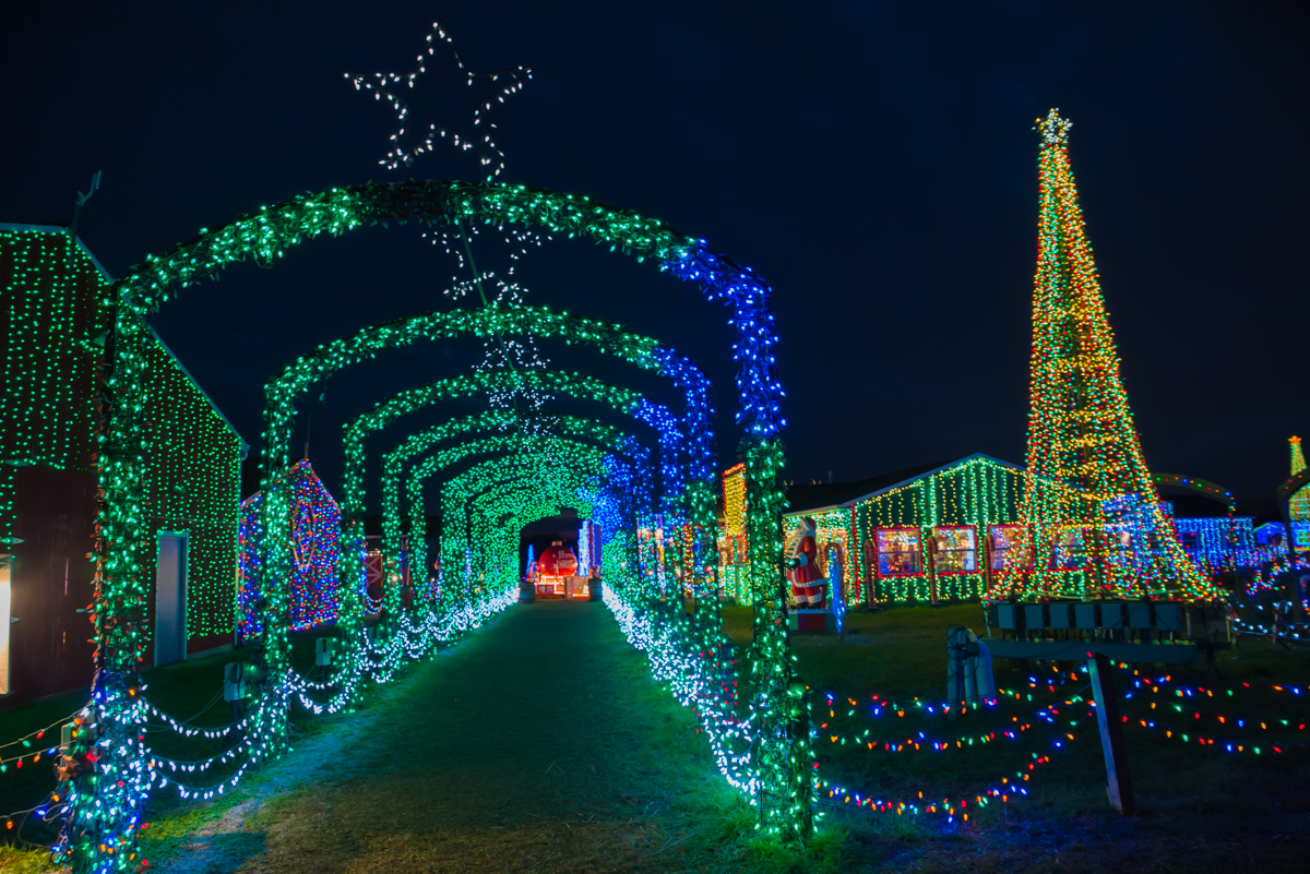 The Christmas Ranch is a self-guided walking experience that features a million holiday lights that blink and twinkle to programmed music. Christmas shops, Santa Claus, train and wagon rides, and a bakery are also available. A portion of the ticket sales are given to Shriners Hospitals, St. Jude Children's Research Hospital, and Neediest Kids of All. ADDRESS: 3205 S Waynesville Rd (45152) / Image: Sherry Lachelle Photography // Published: 12.5.17