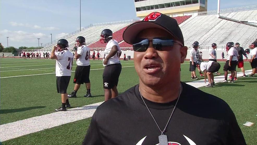 Raw Video Wagner Football Coach Charles Bruce Kabb