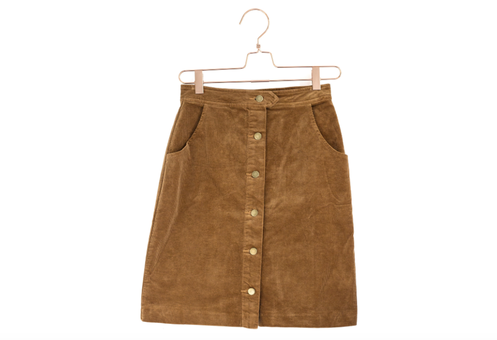 Button Down Corduroy Skirt from Moorea Seal Store ($74). Find on mooreaseal.com. (Image: Moorea Seal)