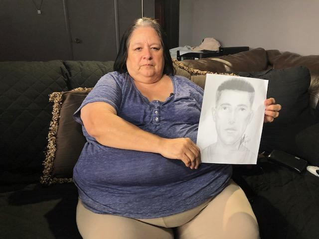 <p>Today marks 24 years since Rosie Tapia's murder, abduction and rape has gone unsolved. Lewine Tapia is holding a sketch of a possible suspect in the murder of her daughter. (Photo: KUTV)</p>