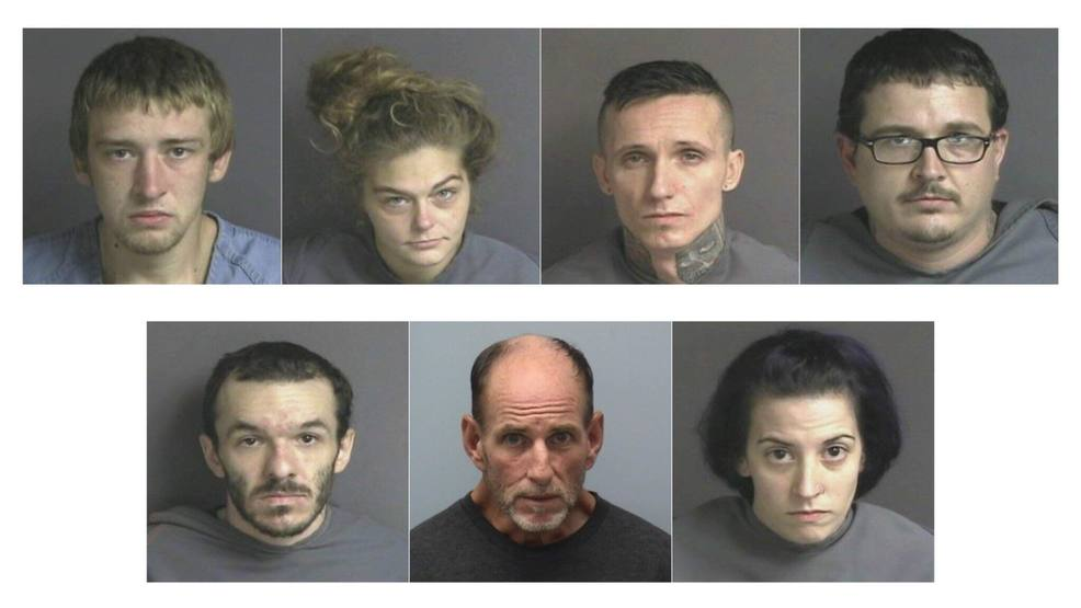 7 arrested for breaking into stealing from home damaged by fire wset