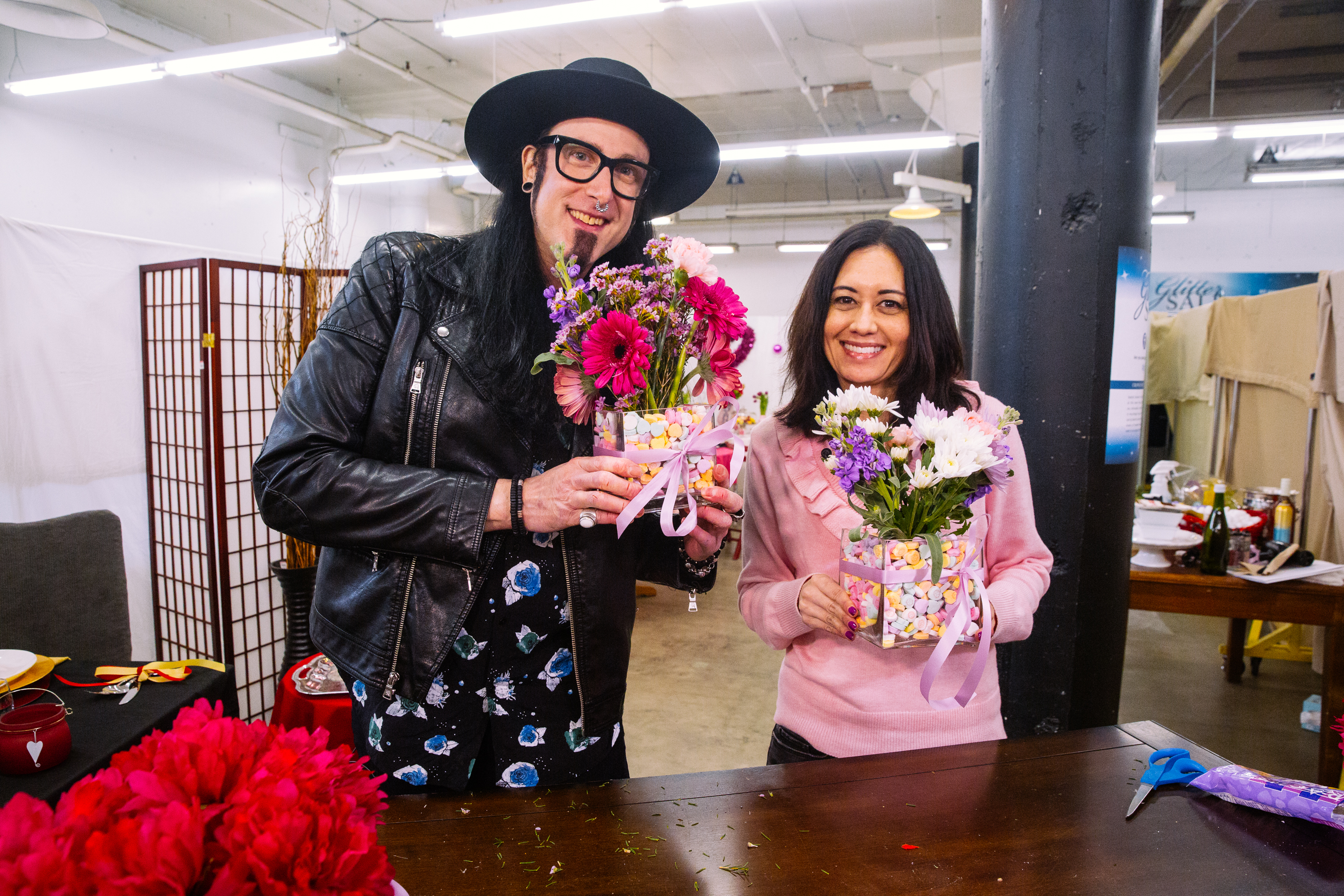 Seattle Goodwill's DIY Guy Gary Foy shares his budget friendly tips for creating a romantic tablescape, Galentine's Day party, conversation heart vase, glitter bottle and more! (Joshua Lewis/Seattle Goodwill){&amp;nbsp;}<p></p>