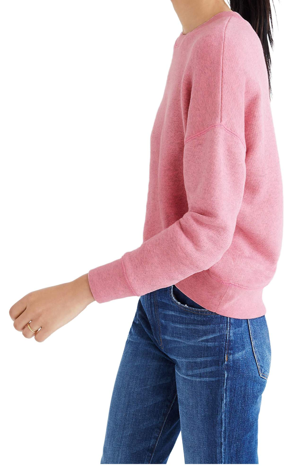 Mainstay Sweatshirt/Madewell was originally $75 and is now $54.99 classic crewneck sweater is spun from plush French terry to keep you cozy during chilly days and nights.(Image: Nordstrom)