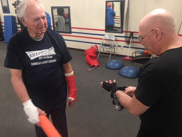 People with Parkison's Disease fight back through boxing. ( Photo: Courtney Wheaton)<p></p>