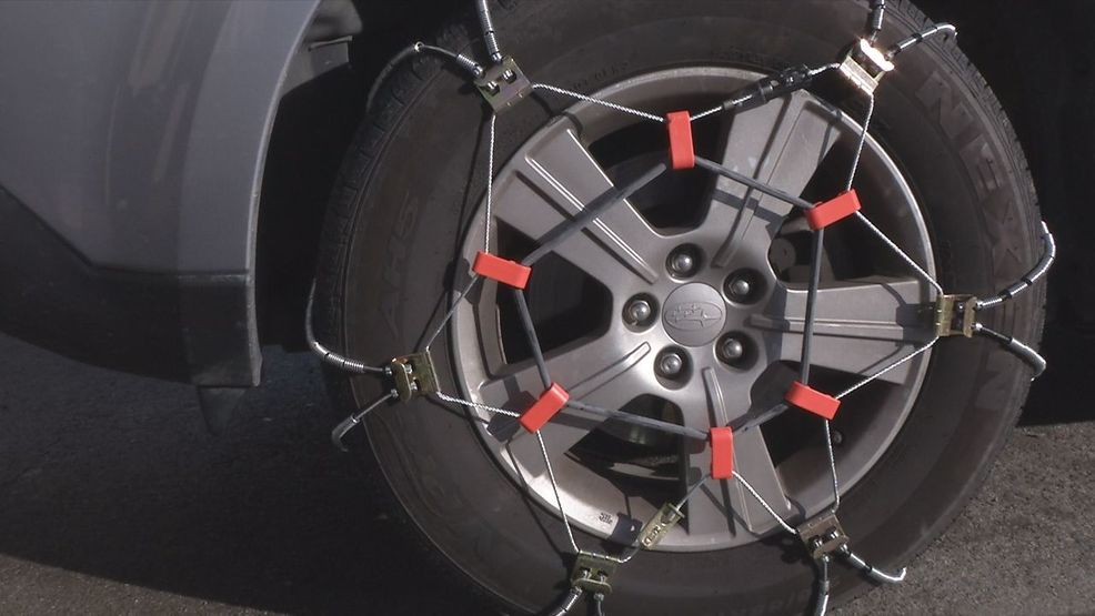 how to put chains on tires for winter driving krcr. Black Bedroom Furniture Sets. Home Design Ideas