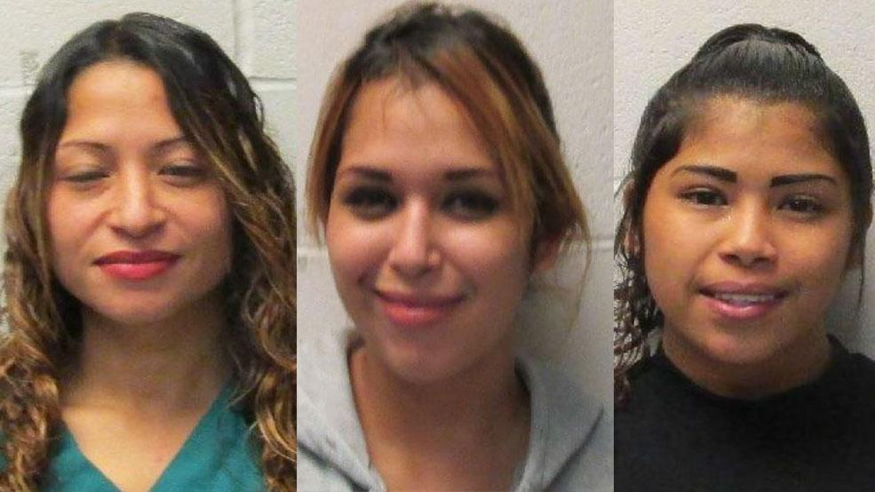 Erica Ann Castellano (left), Jessica Ann Flores (middle) and Roxanne Iris Castellano (right). Photos courtesy of Harlingen Police Department.