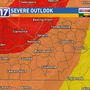 CODE RED: Threats of tornadoes, hail, damaging wind with storms today
