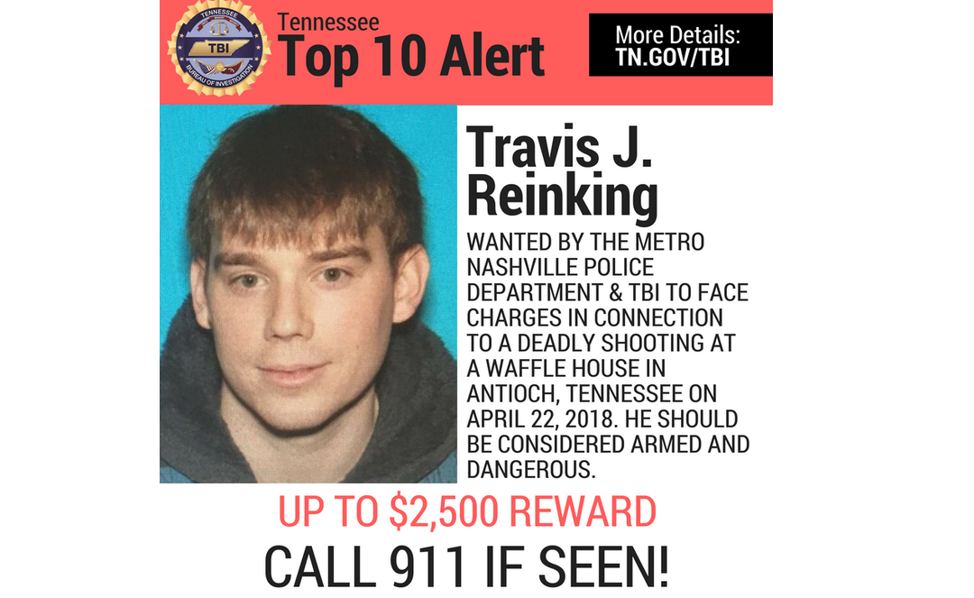 Reinking Most Wanted poster-Tennessee Bureau of Investigation