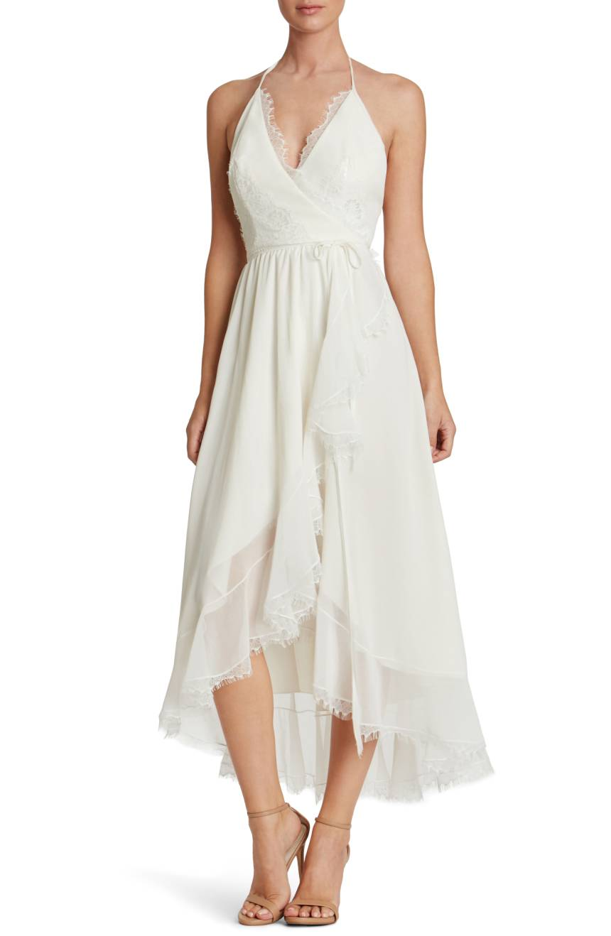 Dress the Population Gia Backless Chiffon Wrap Dress, $298, Nordstrom.com (Image: Courtesy Nordstrom)