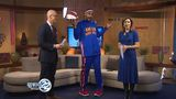 Harlem Globetrotter visits WSBT 22 ahead of weekend game