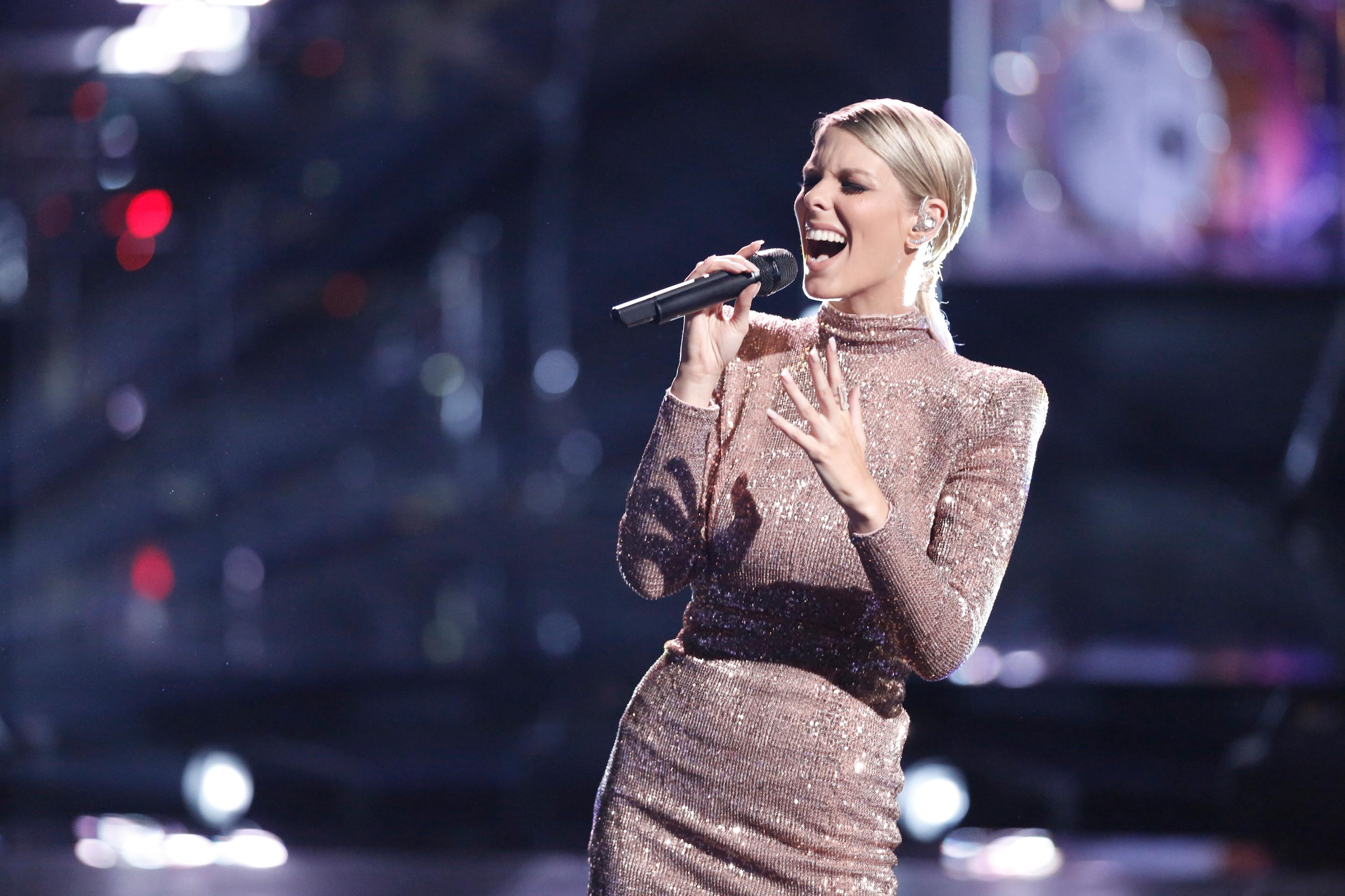 "THE VOICE -- ""Playoff Rounds"" -- Pictured: Emily Luther -- (Photo by: Tyler Golden/NBC)"