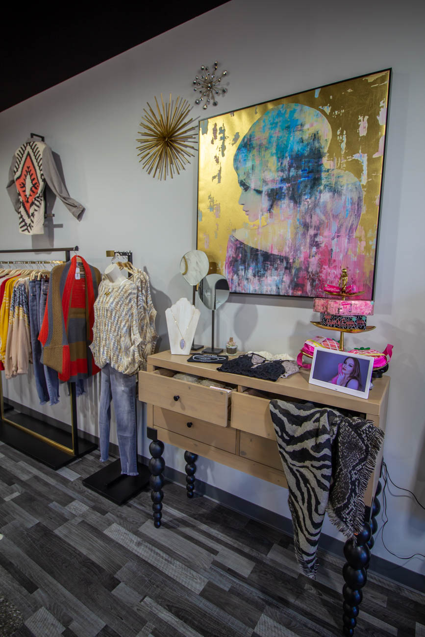 Coveted started out in Tara's basement when the sisters decided they wanted to pursue fashion. The NKY natives and NKU grads hosted shopping parties and eventually took the business mobile, hauling their products to home shows. Originally, they set up a shop in Fort Wright while they waited for their long-term brick-and-mortar shop to be completed in Fort Mitchell. / Image: Katie Robinson, Cincinnati Refined // Published: 1.7.20