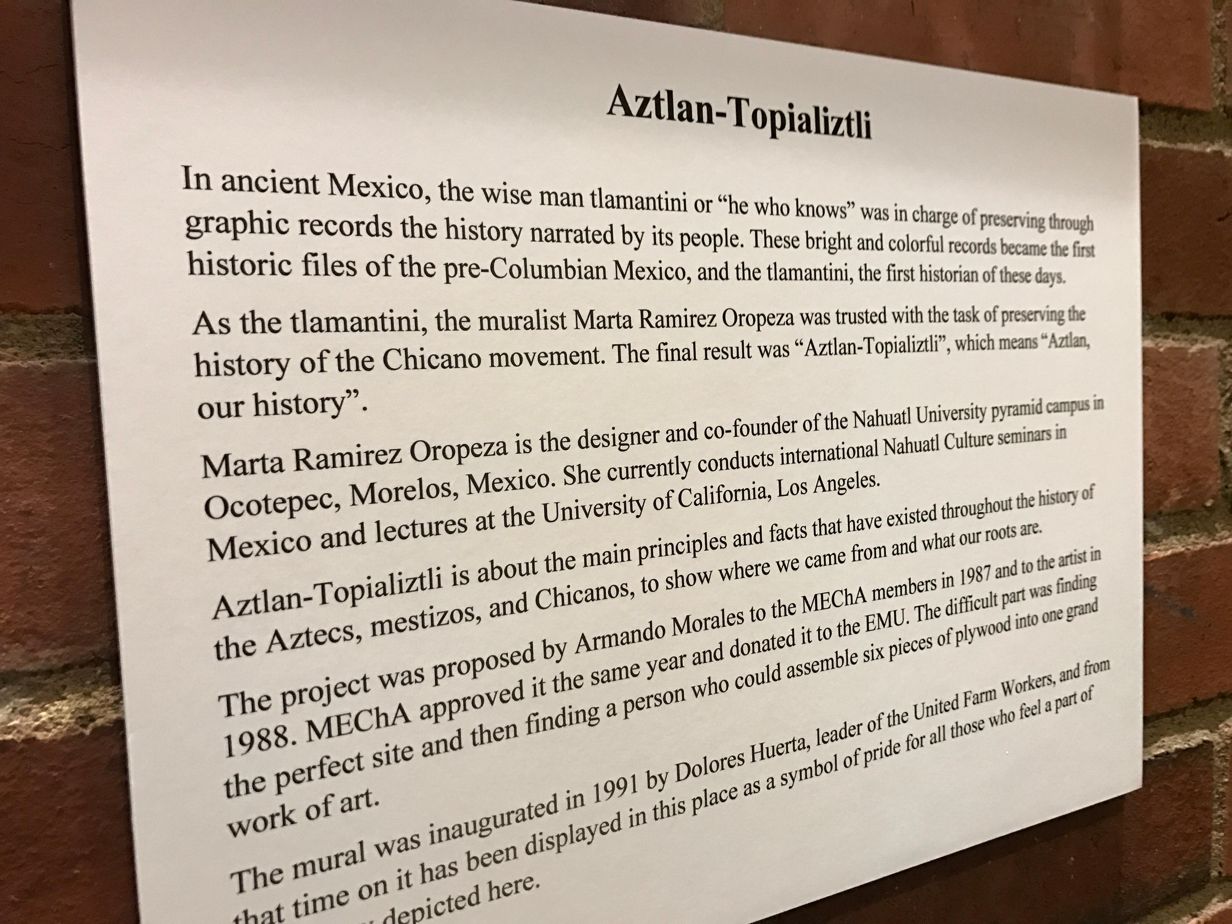A new mural was unveiled at the U of O EMU building in celebration of Hispanic Heritage Month.