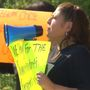 Parents protest bus service policy
