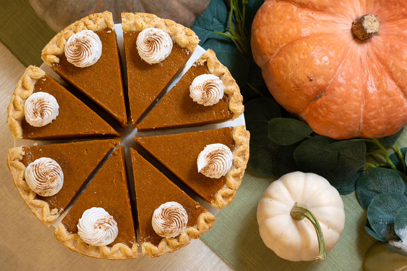 Plattered accompaniments elevate both the Holiday Dinner Buffet and Take and Bake dinners. Pictured: pumpkin pie / Image: Phil Armstrong, Cincinnati Refined // Published: 11.6.20