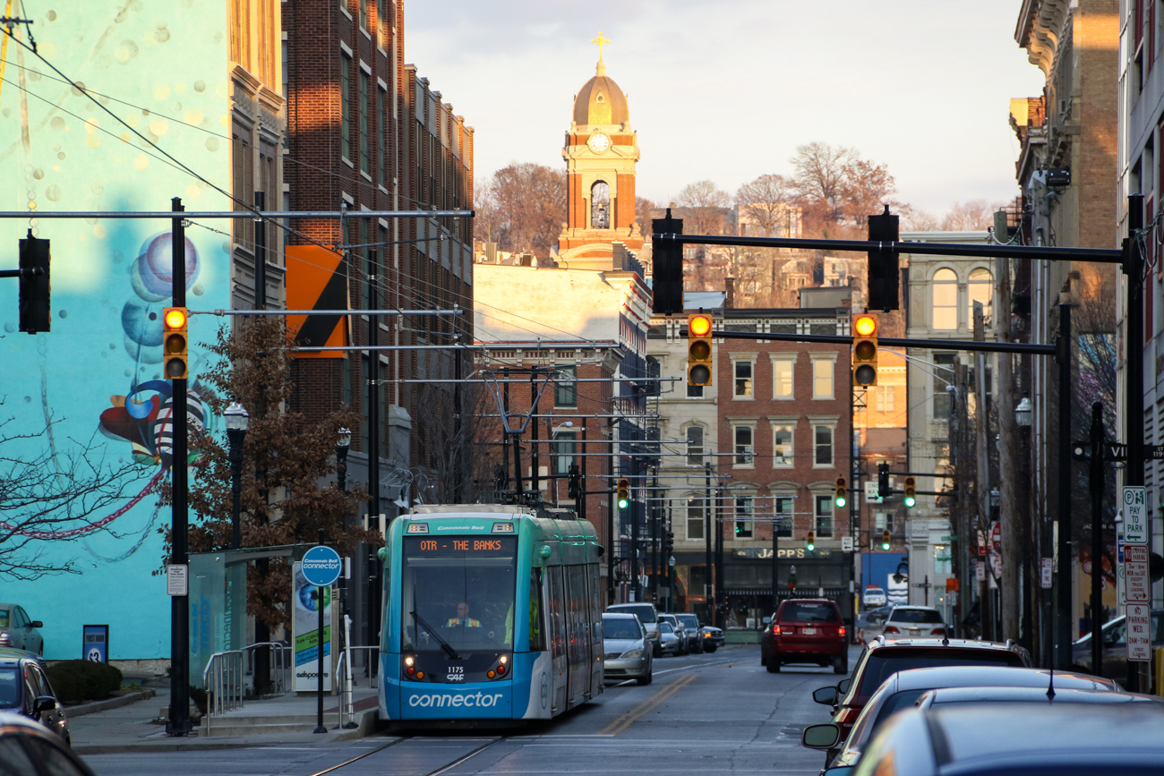 Nearby, the Cincinnati Streetcar's 12th & Vine Street Station provides a transit connection to Northern OTR. / Image: Ronny Salerno // Published: 1.2.19