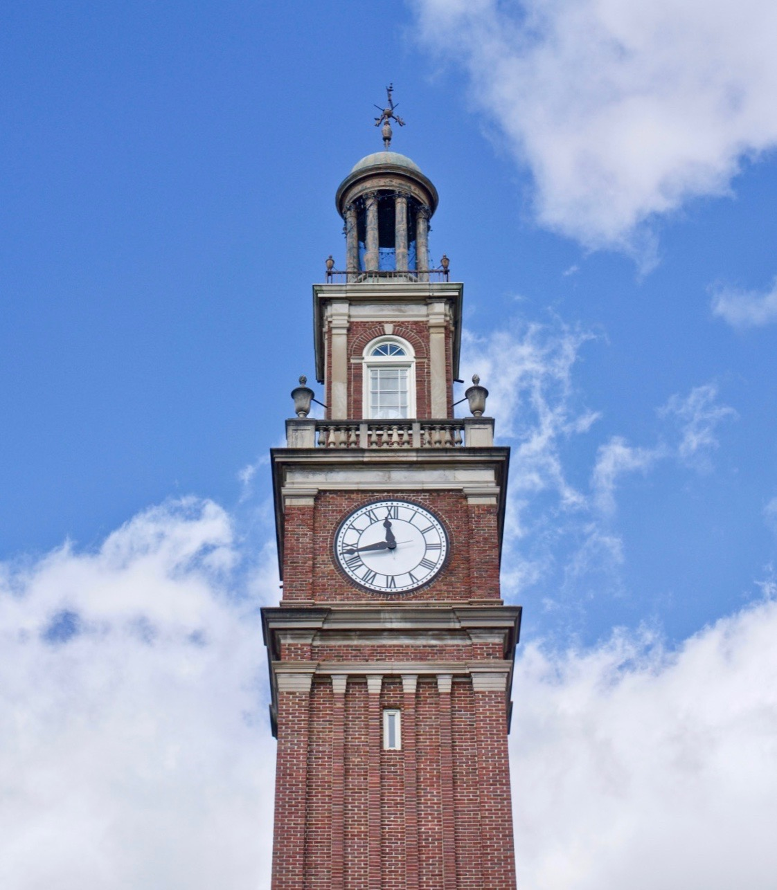 "Distinctive features of Withrow's exterior include an arching entry bridge, a tree-lined ravine, an expansive sports complex behind the school, and a 114-foot clock tower. The latter is arguably the most recognizable feature on the school's campus. Visitors can climb up over 100 steps inside to get an amazing vantage point out of the window at the top of the tower. An inscription from the book of Psalms is written on the base of the tower, which reads: ""So teach us to number our days that we may apply our hearts unto wisdom."" ADDRESS: 2520 Madison Road (45208) / Image: Brian Planalp // Published: 11.9.18"