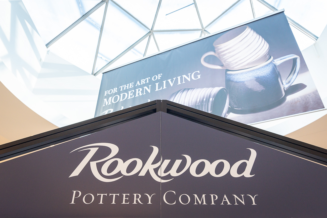 Suzette Percival, Rookwood Pottery's Marketing Director, noticed the space months before Rookwood formally moved in. Understanding the space's potential, she waited to spring for it until it became available. Its location is ideal due to it being in a main mall corridor and directly beneath a skylight, which properly illuminates the signature Rookwood glazes on the products. The shop celebrated its grand opening on the weekend of July 13th and 14th, 2019. / Image: Phil Armstrong, Cincinnati Refined // Published: 7.24.19