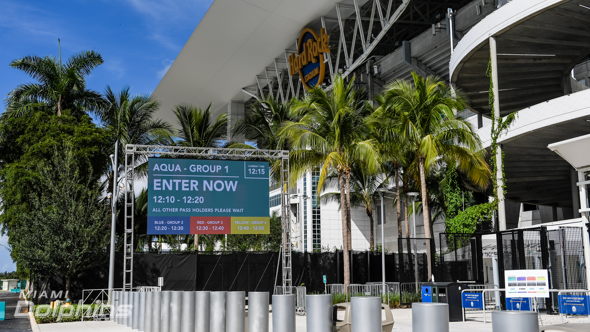 Timed Fan Entry at Hard Rock Stadium{ }(Miami Dolphins)