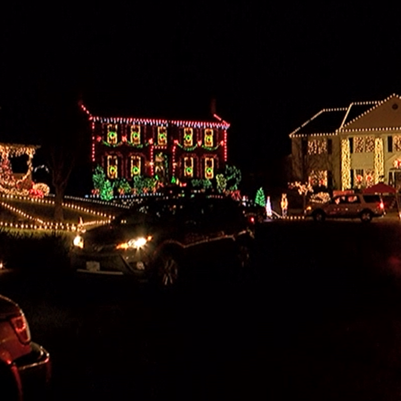 Residents decorate street for the
