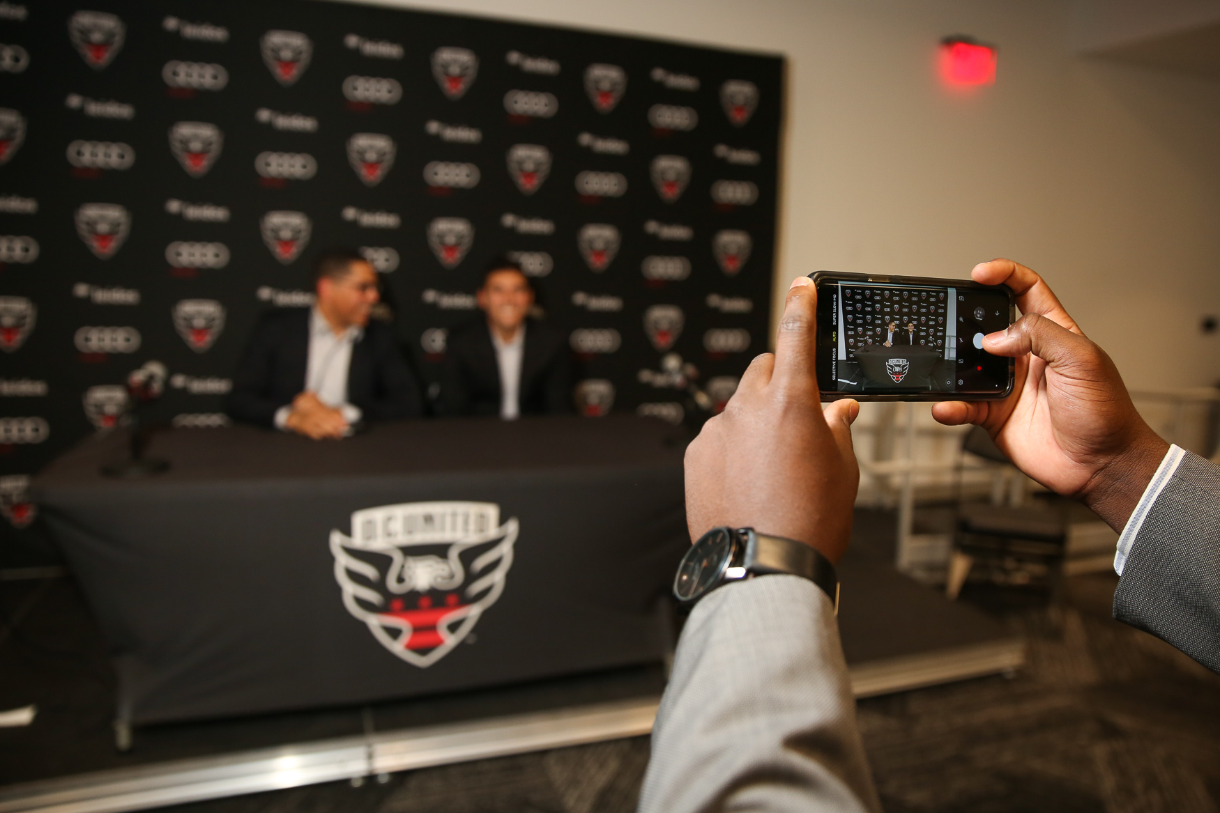 DC United players and fans came to Audi Field on October 4 for One Night One Goal, a charity event which benefitted DC Scores. Guests had the chance to check out the player's locker room, enjoy meals from Jose Andres' ThinkFoodGroup, bid on experiences with DC United players and mingle with their favorite players, like David Ousted and Steven{ }Birnbaum. DC Scores brings team sports to underserved D.C. youth, in the hopes that it'll teach them teamwork and leadership skills. (Amanda Andrade-Rhoades/DC Refined)