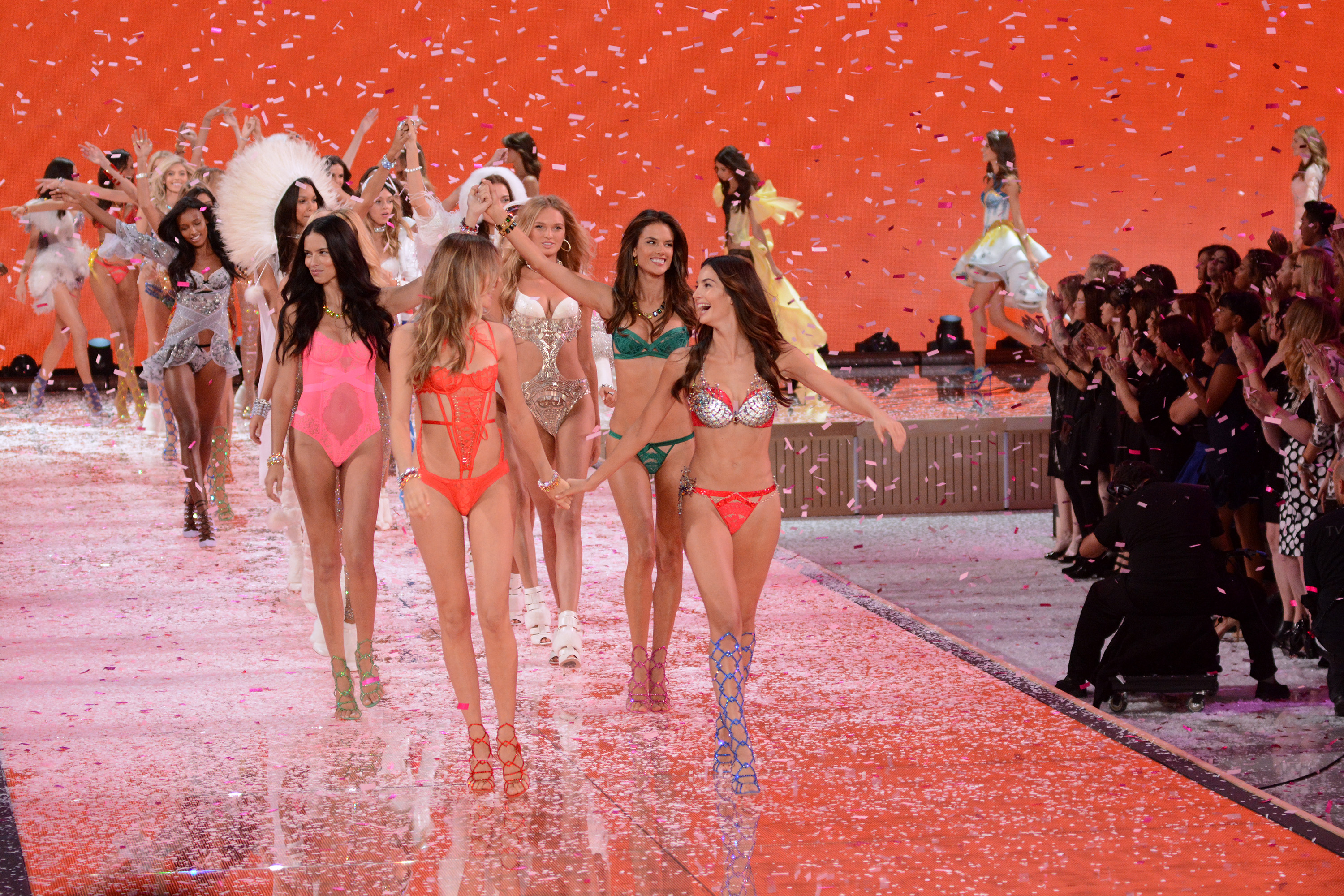 2015 Victoria's Secret Fashion Show - Runway  Featuring: Adriana Lima, Behati Prinsloo, Lily Aldridge, Alessandra Ambrosio Where: Queens, New York, United States When: 11 Nov 2015 Credit: Ivan Nikolov/WENN.com
