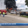 Large fire at recycling center in Carrollton
