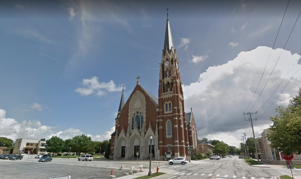 <p>3. Naperville, Illinois. Education Rating: 94.3. Adult Population With:{&amp;nbsp;}Bachelor's Degree: 36% Master's or Professional Degree: 26% Doctorate Degree: 3% (Image: Catholic Church in Naperville's Historic District, GoogleMaps)</p>