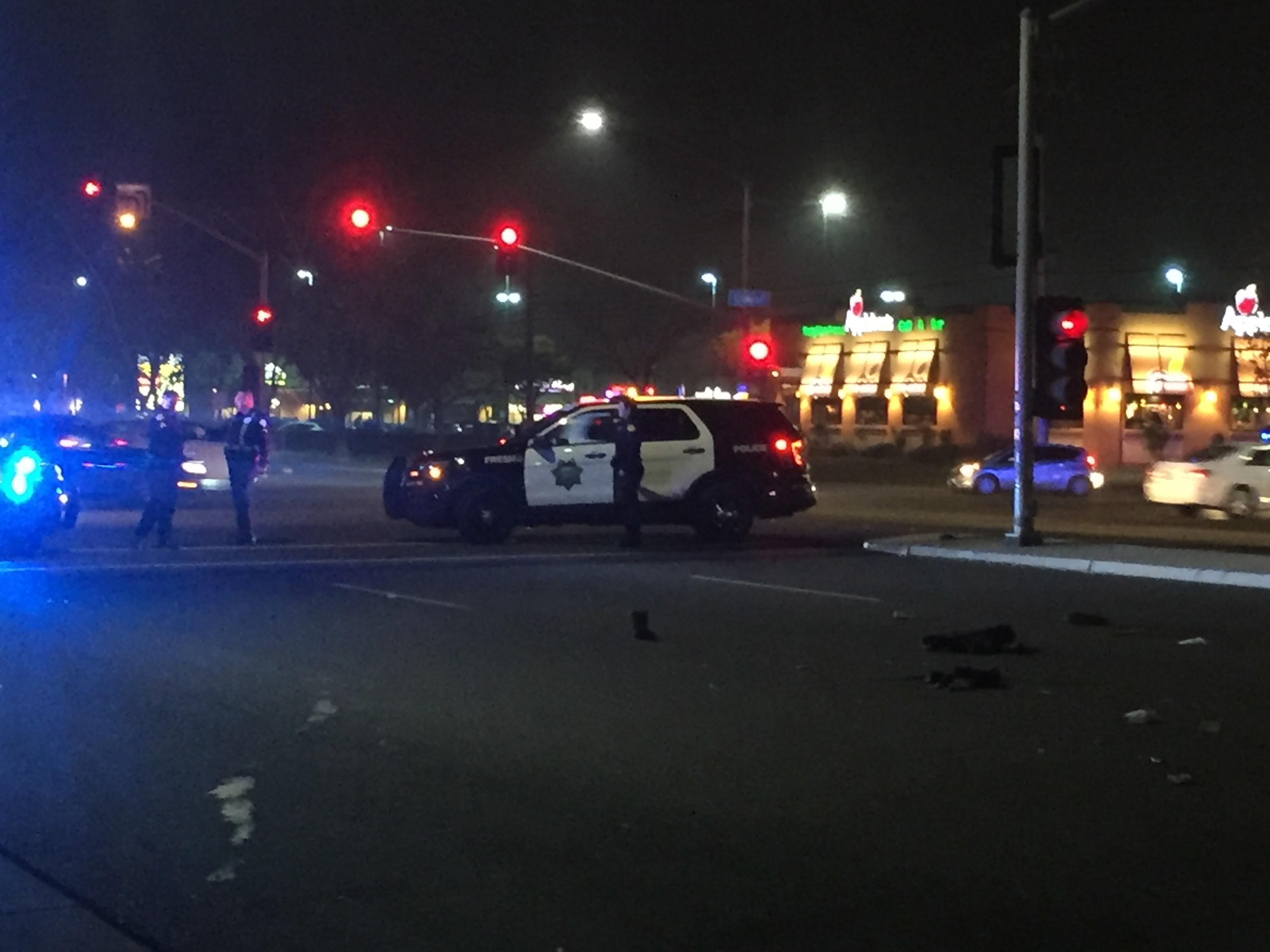 Fresno P.D. is investigating an auto-pedestrian crash in Northeast Fresno. It happened just before 8:00 p.m. Friday near the intersection of Cedar and Herndon