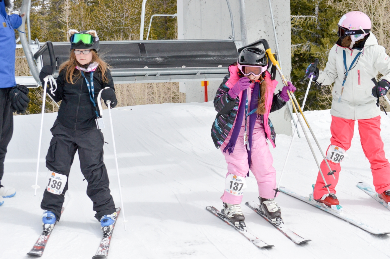 Lee Canyon was full of kids Saturday, Feb. 25, 2017, who took part in Lil' Air and Style. The fun competition was for skiers and snowboarders between the ages of 3 to 13 to show off their skills in front of a crowd of cheering friends, family, and Lee Canyon ski instructors, who taught many of the competitors those skills over the past four weeks. (Photo courtesy of Leslie Salguero)