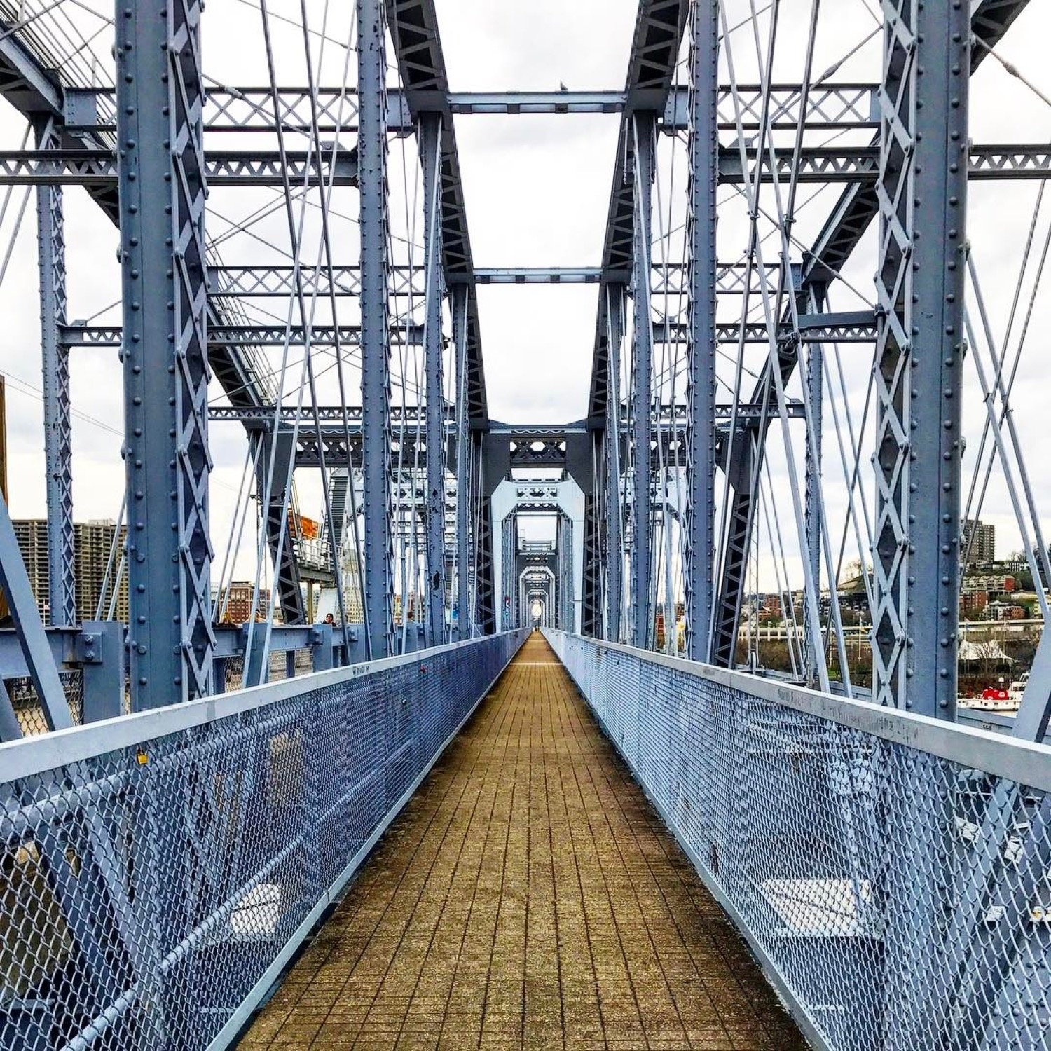 HIKE: The Bridges of Kenton County / AREAS: The Banks to Covington to Newport / ABOUT: Cross two rivers three times on two bridges starting at the Banks and moving into Kentucky (learn more about the path in the story). / Image courtesy IG user @c_doggy // Published: 5.19.17
