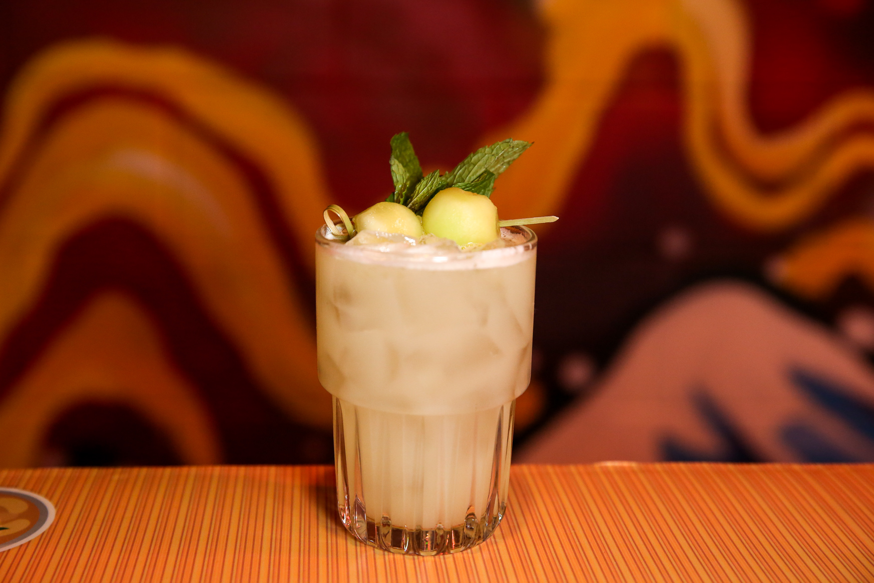 Honey See, Honeydew features sake, vermouth, koji, cucumber, honeydew and absinthe. (Amanda Andrade-Rhoades/DC Refined)