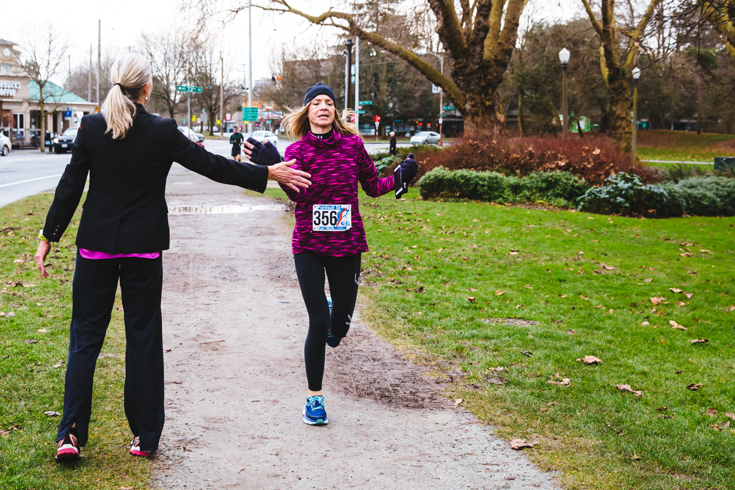 You get a pantsuit, you get a pantsuit! Who doesn't look good in a pantsuit? NOBODY THAT'S WHO! This was proven today (January 20, 2018) as fully uniformed athletes braved the weather and donned their suits to run Green Lake in Seattle. The primary purpose of the event is for the 'unification of the Pantsuit community and to continue to strive for change.' We can get behind that! (Image: Sunita Martini / Seattle Refined)