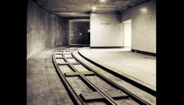 Inside the original Dupont Trolley station. (Image courtesy of The Dupont Underground)