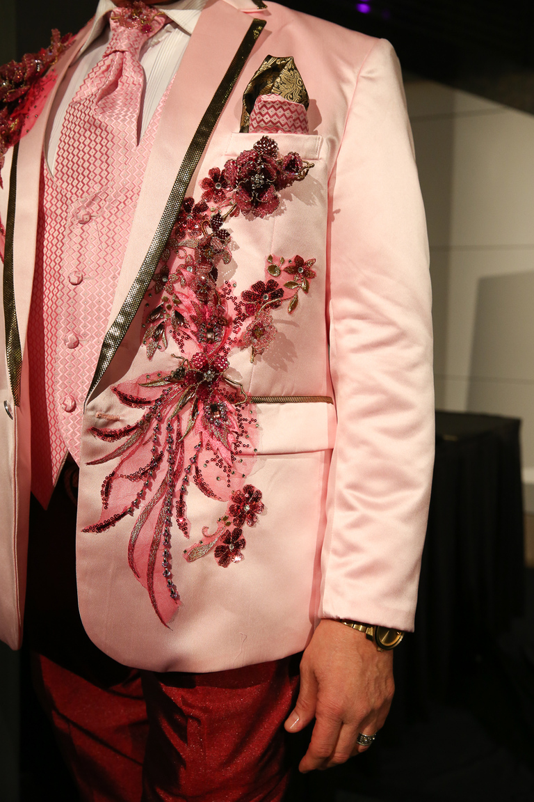 Alberto Ulces' jacket is incredibly detailed.{ }{ }(Amanda Andrade-Rhoades/DC Refined)