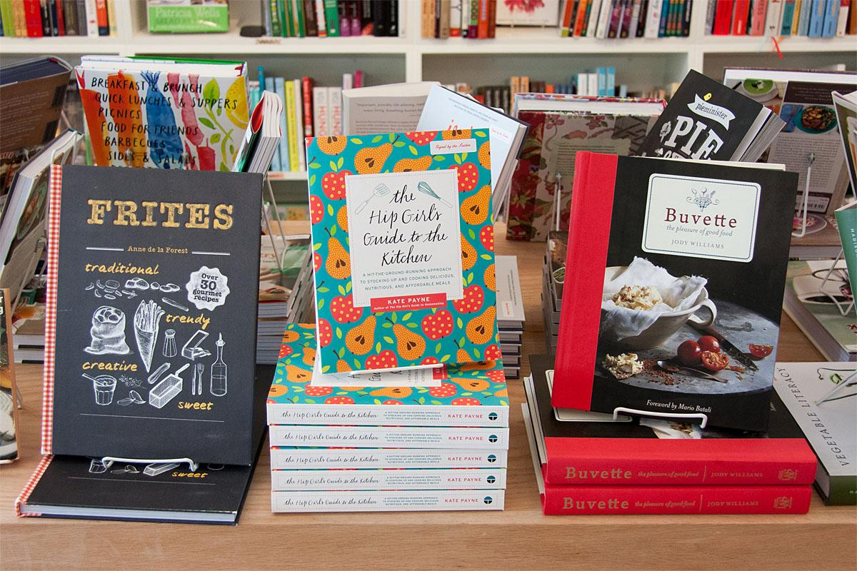 An entire store filled with beautifully designed and photographed cookbooks? Yes, please. (Image: Melanie Biehle/Seattle Refined)