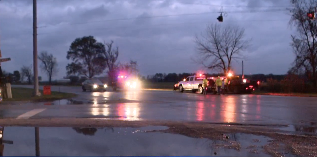 A man is dead Wednesday after a crash in La Porte County. // WSBT 22 Photo