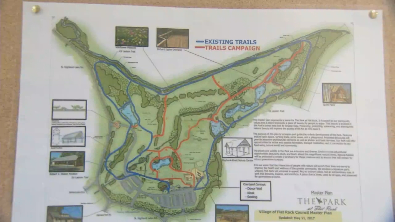Ground should be broken next week on a $300,000 trail system at The Park at Flat Rock. (Photo credit: WLOS staff)