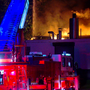 Four-alarm fire at Superior Linen and Apparel