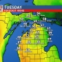 Mild tonight & Tuesday