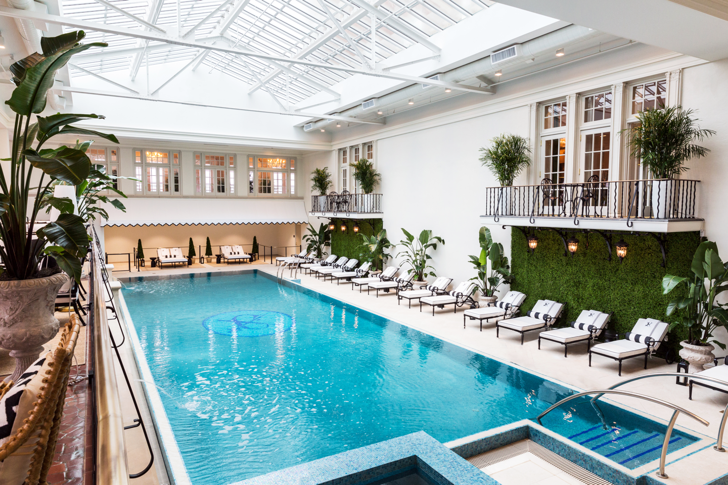 The hotel's pool at The Cavalier Hotel (Image: Ashley Lester)