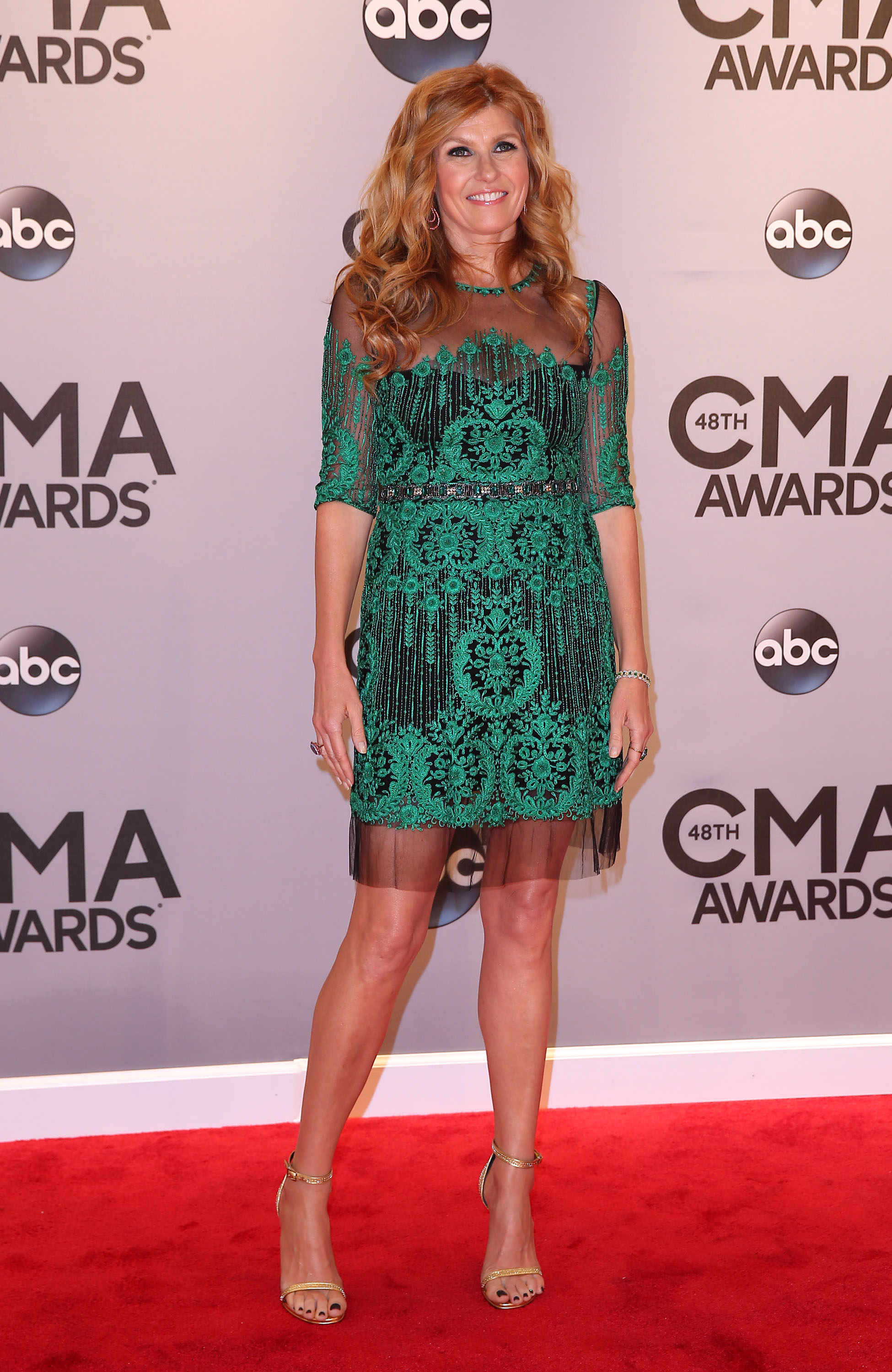 48th Annual CMA Awards 2014 Arrivals at Bridgestone Arena in Nashville, TN  Featuring: Connie Britton Where: Nashville, Tennessee, United States When: 06 Nov 2014 Credit: Judy Eddy/WENN.com