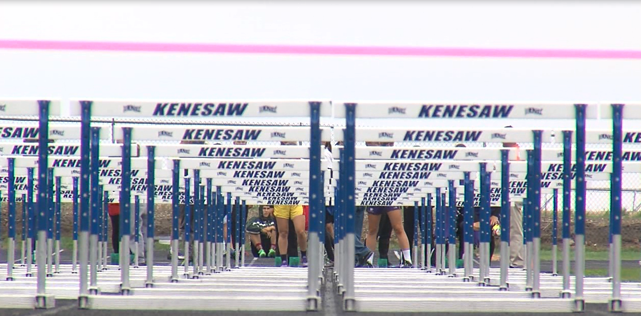 The D8 district track and field meet was held at Kenesaw on May 10, 2017 (NTV News)