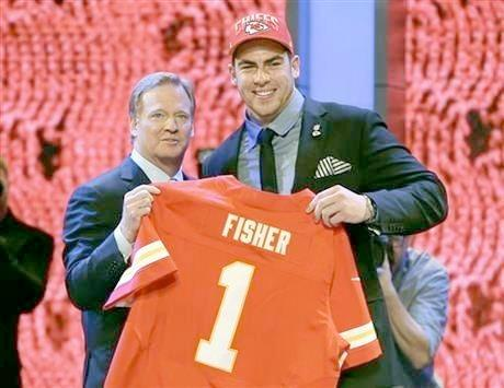The Kansas City Chiefs selected Central Michigan tackle Eric Fisher with the first overall pick in the 2013 NFL Draft Thursday night.