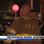 Crews respond to fire at Mishawaka apartment complex