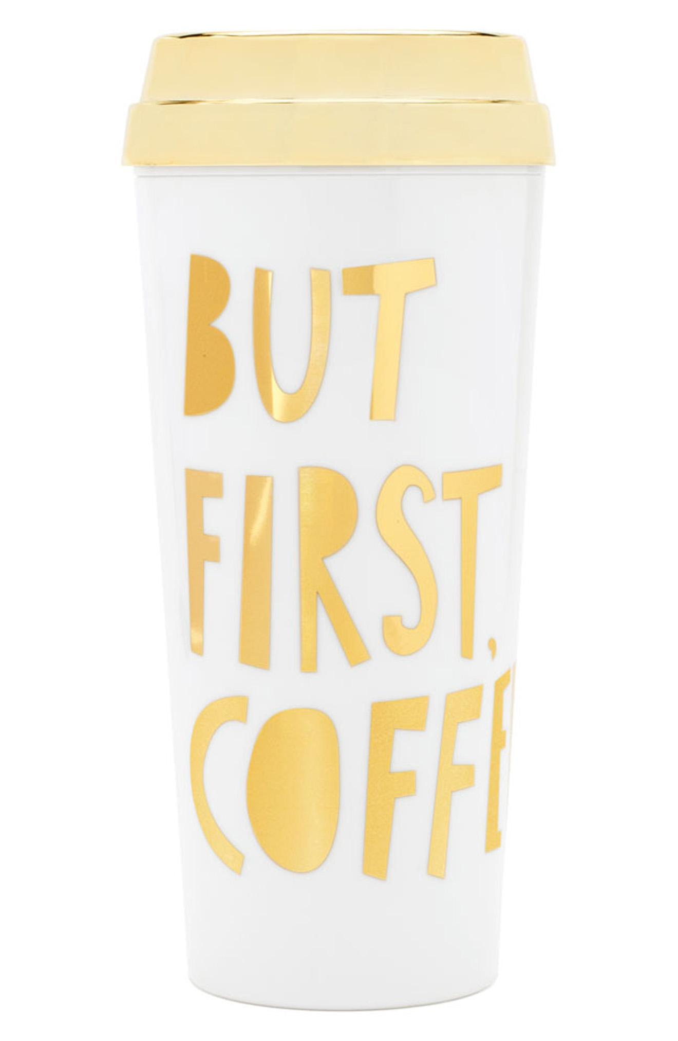 Ban.do &quot;But First Coffee&quot; thermal travel mug, $18,{&amp;nbsp;}via nordstrom.com (Image: Courtesy Nordstrom)<p></p>
