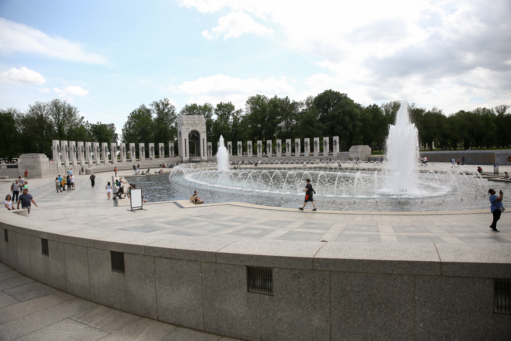 Fun fact! The WWII Memorial received 4.6 million visitors in 2018.