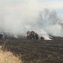 Large hay bales destroyed in Friday fire
