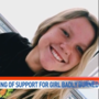 Students hold rally for severely burned 9th grader