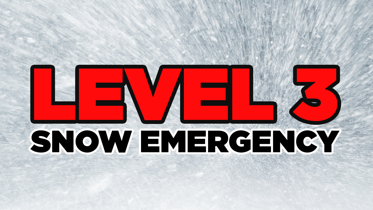LEVEL 3: All roadways are closed to non-emergency personnel. No one should be driving during these conditions unless it is absolutely necessary to travel or a personal emergency exists. All employees should contact their employer to see if they should report to work. Those traveling on the roads may subject themselves to arrest. (WSYX/WTTE)